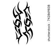 tattoo tribal vector design.... | Shutterstock .eps vector #742869838