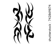 tattoo tribal vector designs.... | Shutterstock .eps vector #742869874
