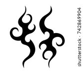 tattoo tribal vector design.... | Shutterstock .eps vector #742869904