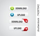 set of download buttons 2 with...
