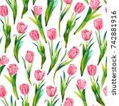 seamless watercolor texture...   Shutterstock . vector #742881916