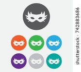 simple carnaval mask icon. flat ... | Shutterstock .eps vector #742883686