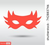 simple carnaval mask icon | Shutterstock .eps vector #742883746