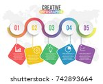 infographic design vector and... | Shutterstock .eps vector #742893664
