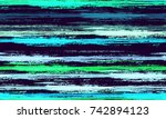 watercolor stripes in grunge... | Shutterstock .eps vector #742894123