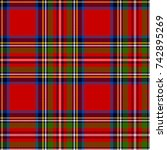 scottish plaid in classic... | Shutterstock .eps vector #742895269