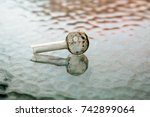 crystal meth pipe. a glass pipe ... | Shutterstock . vector #742899064