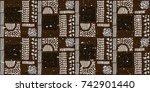 seamless african pattern.... | Shutterstock .eps vector #742901440