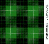 green scottish woven tartan... | Shutterstock .eps vector #742909648
