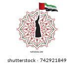 uae national day | Shutterstock .eps vector #742921849