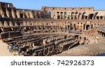 colosseum interior in rome....   Shutterstock . vector #742926373