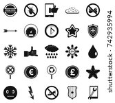type icons set. simple set of... | Shutterstock .eps vector #742935994