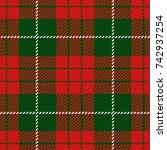 christmas and new year scottish ... | Shutterstock .eps vector #742937254