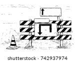 Vector Cartoon Drawing Of Road...