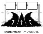 vector cartoon drawing of blank ... | Shutterstock .eps vector #742938046