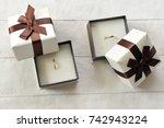 wedding rings | Shutterstock . vector #742943224