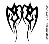 tattoo tribal designs. sketched ... | Shutterstock .eps vector #742950934