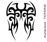 tattoo tribal vector design.... | Shutterstock .eps vector #742950940
