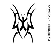 tattoo tribal designs. sketched ... | Shutterstock .eps vector #742951108