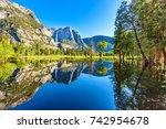 yosemite national park  ...   Shutterstock . vector #742954678