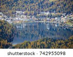 hiking in the engadin valley ... | Shutterstock . vector #742955098