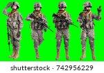 Female Us Army Soldier Rifle - Fine Art prints