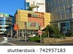 exterior of the golden terraces ...   Shutterstock . vector #742957183