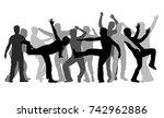 training men. black silhouettes.   Shutterstock .eps vector #742962886