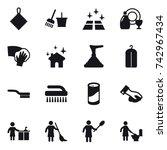 16 vector icon set   rag ... | Shutterstock .eps vector #742967434