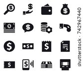 16 vector icon set   dollar... | Shutterstock .eps vector #742967440
