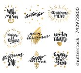 vector collection of hand drawn ... | Shutterstock .eps vector #742973800