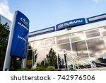 prague  czech republic  ... | Shutterstock . vector #742976506
