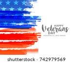 creative illustration poster or ... | Shutterstock .eps vector #742979569