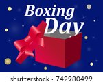 boxing day sale banner on a...   Shutterstock .eps vector #742980499