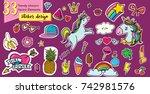 vector illustration set of 33... | Shutterstock .eps vector #742981576