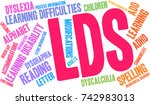lds word cloud on a white... | Shutterstock .eps vector #742983013