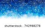 winter background   Shutterstock .eps vector #742988278