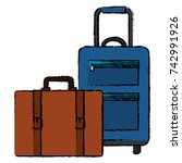 suitcase travel isolated icon | Shutterstock .eps vector #742991926
