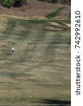 man playing golf | Shutterstock . vector #742992610