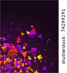 Fly Colorful 3d Pyramids Vecto...