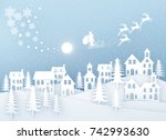 christmas and new year.... | Shutterstock . vector #742993630