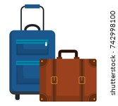 suitcase travel isolated icon   Shutterstock .eps vector #742998100