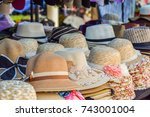 hat  available at  flea market. ... | Shutterstock . vector #743001004