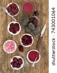 beetroot vegetable health food... | Shutterstock . vector #743001064