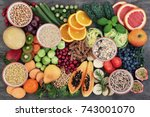 health food concept for a high... | Shutterstock . vector #743001070
