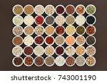 healthy high fiber dietary food ...   Shutterstock . vector #743001190