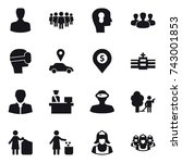 16 vector icon set   man  team  ... | Shutterstock .eps vector #743001853