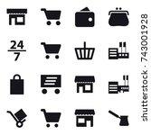 16 vector icon set   shop  cart ...