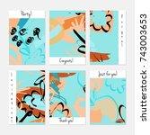 hand drawn creative universal... | Shutterstock .eps vector #743003653