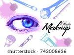 vector hand drawn illustration... | Shutterstock .eps vector #743008636